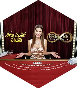 Evolution - Free Bet Blackjack woman