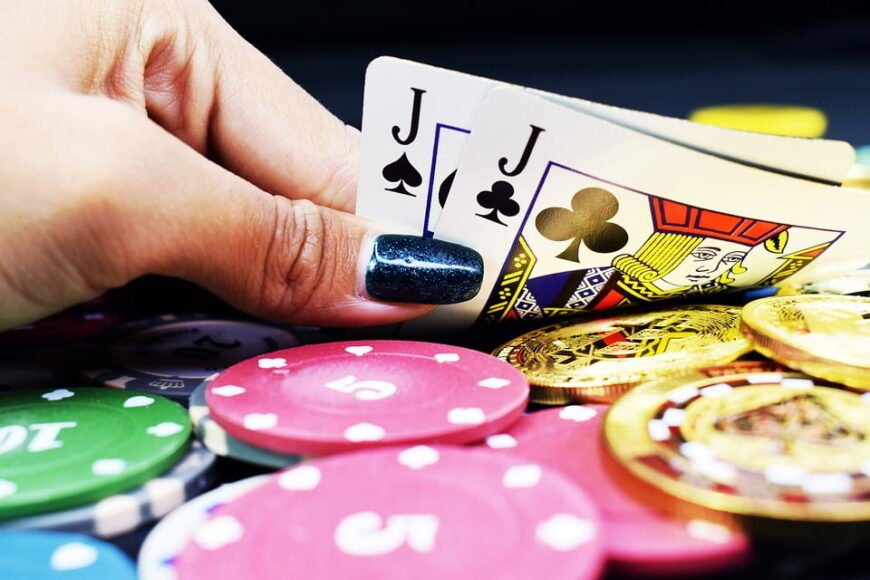 Poker Card lady hand