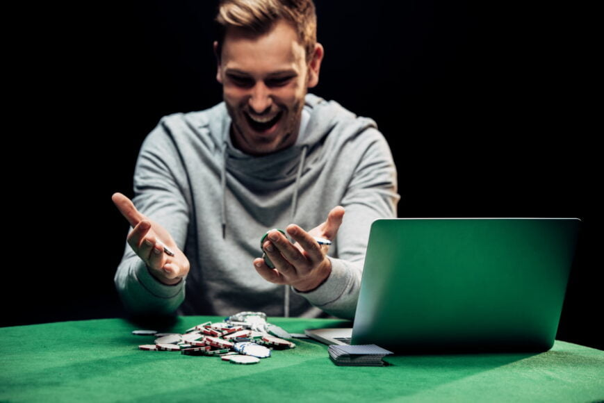 Poker happy man - ok