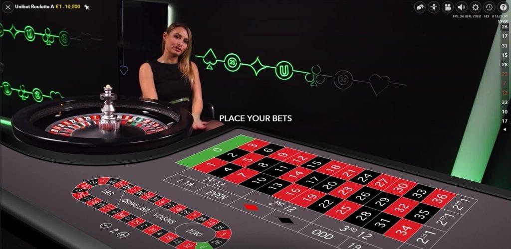 Unibet live casino roulette