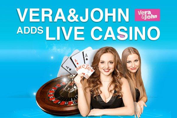 Vera john live casino