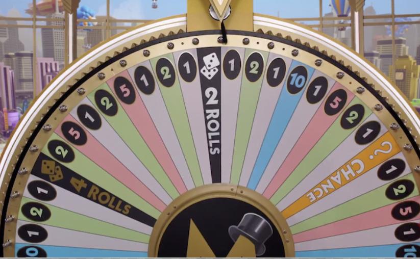 Monopoly live - screenshot wheel