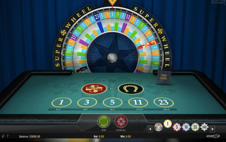 Super Wheel - Table PlaynGO