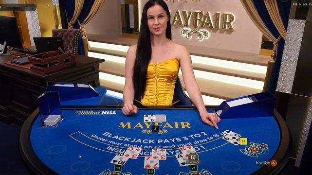 Live Mayfair Online Blackjack